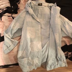 oversized vintage button up